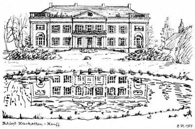 Federzeichnung Schloss Harkotten