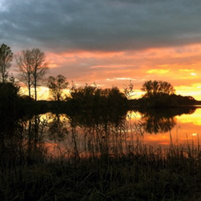 Sonnenuntergang auf Gut Pronstorf